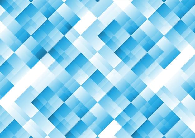 Fondo de color blanco y azul geométrico translúcido abstracto.
