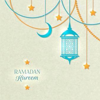 Fondo de color claro de ramadán