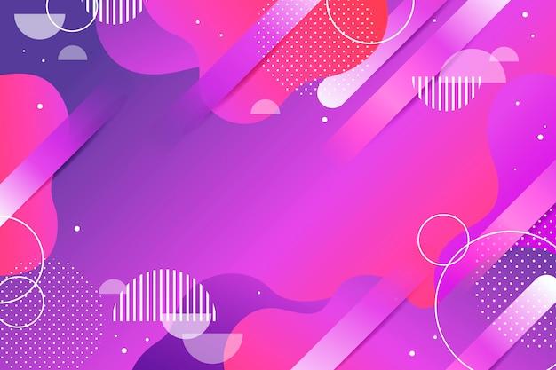 Fondo de color degradado con formas geométricas