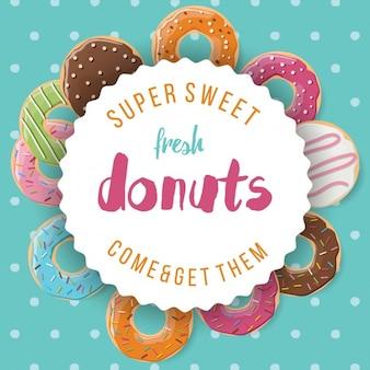 Fondo a color de donuts