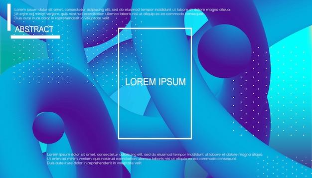 Fondo de color líquido. composición de formas de gradiente fluido