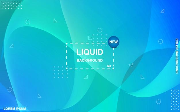 Fondo de color liquido. gradiente de fluidos conforma la composición.