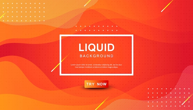 Fondo de color líquido naranja dinámico