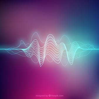 Fondo de color con onda sonora abstracta