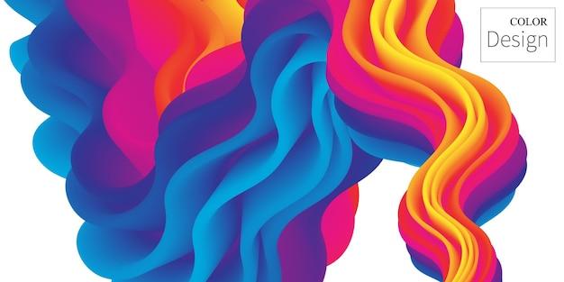 Fondo de color. póster fluido. ola de flujo.