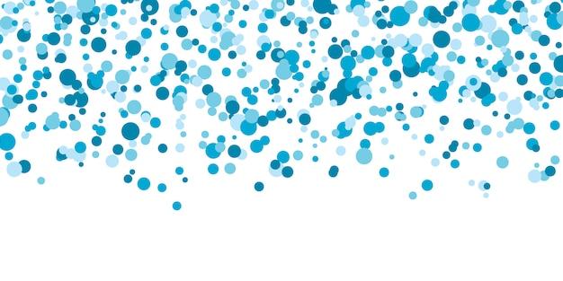 Fondo de color de punto azul. ilustración. círculos punteados de colores brillantes abstractos. puntos de colores que caen. eps10.