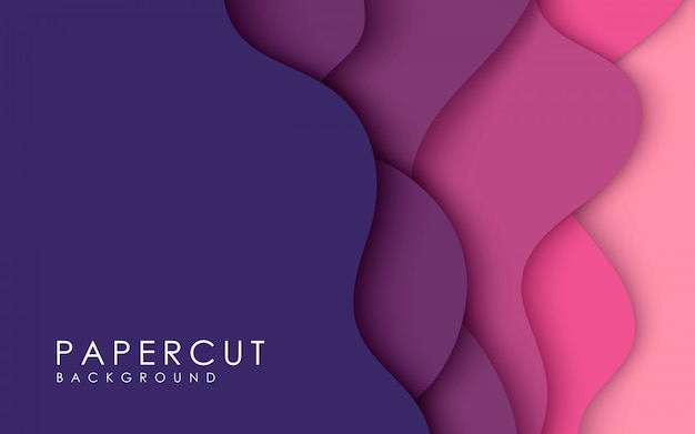 Fondo de color púrpura papercut