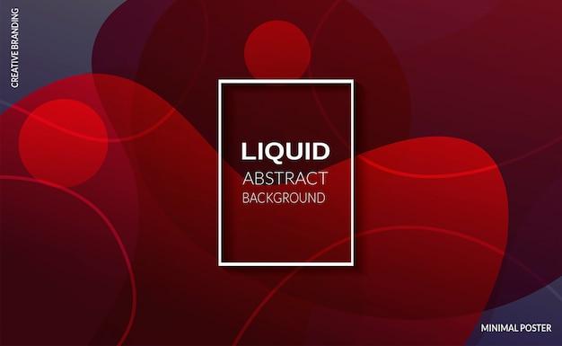 Fondo de color rojo liquido. carteles de diseño futurista.