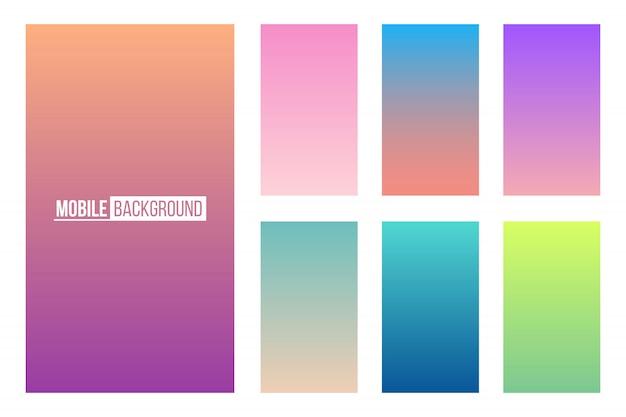 Fondo de color suave aplicación móvil.