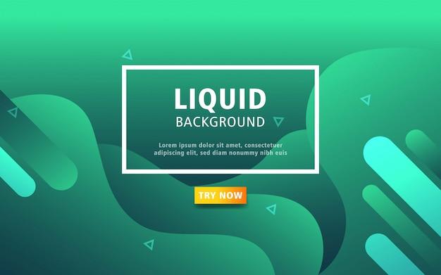 Fondo de color verde líquido