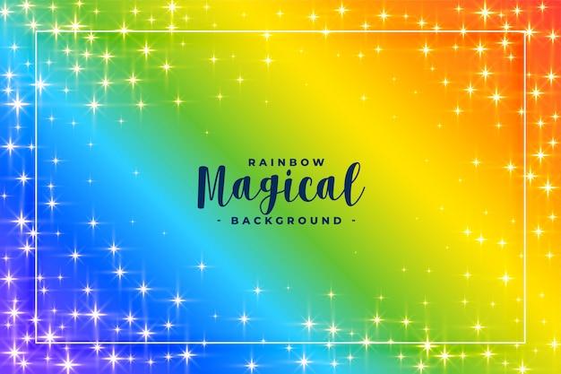 Fondo de colores del arco iris con destellos