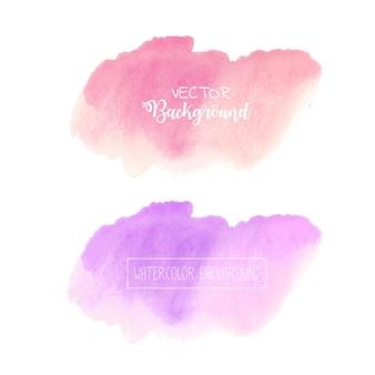 Fondo en colores pastel de la acuarela, logotipo en colores pastel de la acuarela, ejemplo del vector.