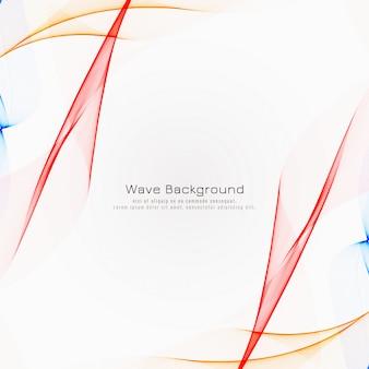 Fondo colorido abstracto de la onda