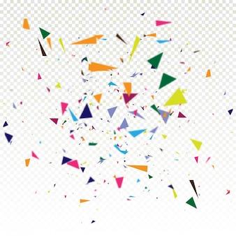 Fondo colorido abstracto del confeti que cae