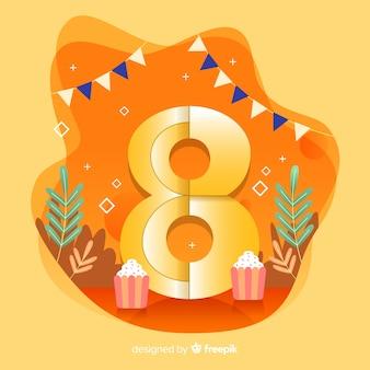 Fondo colorido abstracto feliz cumpleaños