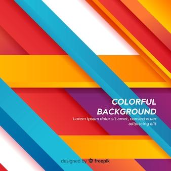 Fondo colorido abstracto moderno con formas