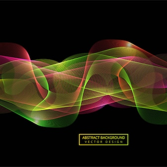 Fondo colorido abstracto de la onda del humo