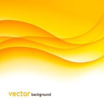 Fondo colorido abstracto con ondas naranjas