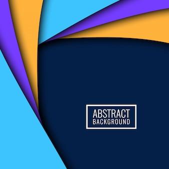 Fondo colorido abstracto ondulado papercut