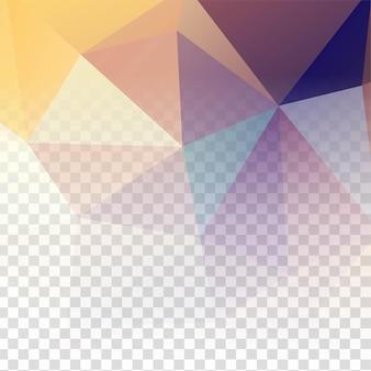 Fondo colorido abstracto polígono geométrico transparente