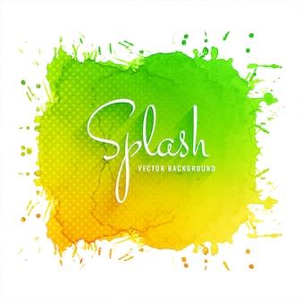 Fondo colorido abstracto splash acuarela