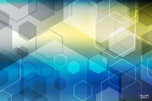 Fondo colorido abstracto de la tecnología.