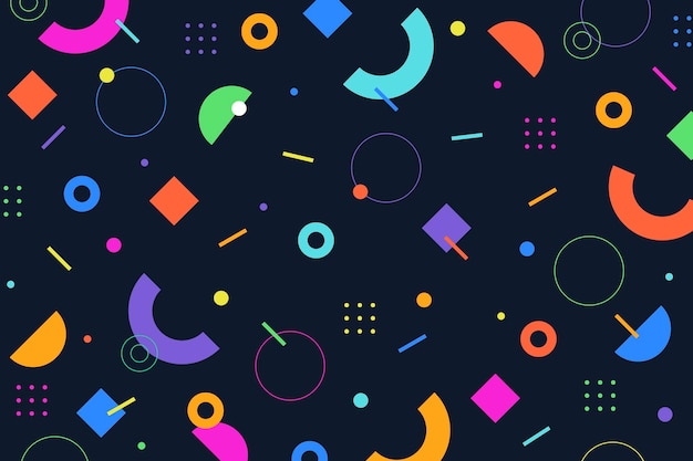 Fondo colorido abstracto vector gratuito