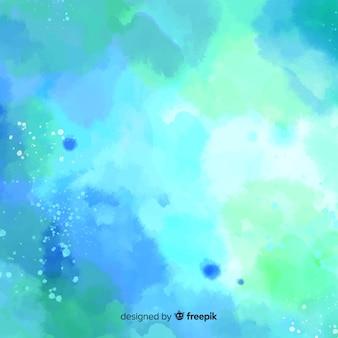 Fondo colorido de acuarela con manchas