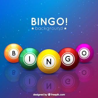 Fondo colorido de bolasa de bingo