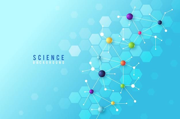 Fondo colorido ciencia realista