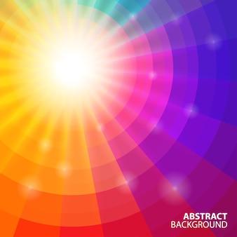 Fondo colorido circular abstracto, ilustración