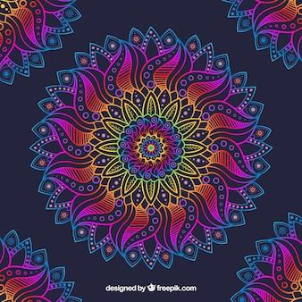 Fondo colorido con concepto  mandala