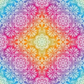 Fondo colorido con dibujos de flores y hojas