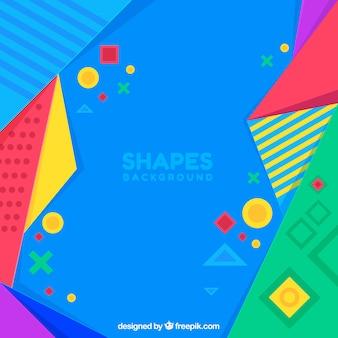 Fondo colorido con figuras geométricas