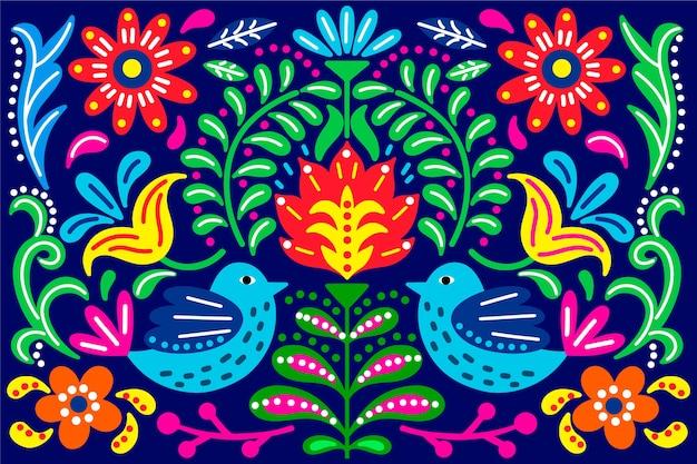 Fondo colorido con concepto mexicano