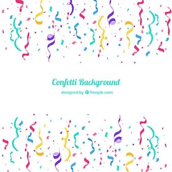Fondo colorido de confetti en estilo plano