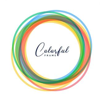 Fondo colorido conjunto de marcos de círculo