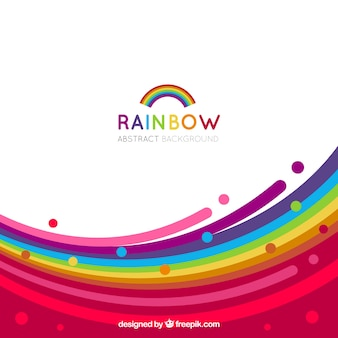 Fondo colorido de arcoiris
