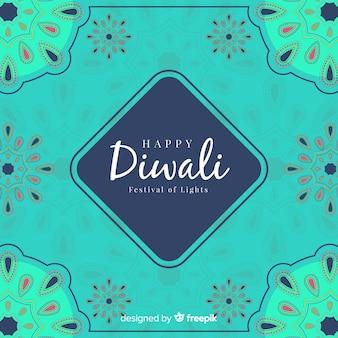 Fondo colorido de diwali dibujado a mano
