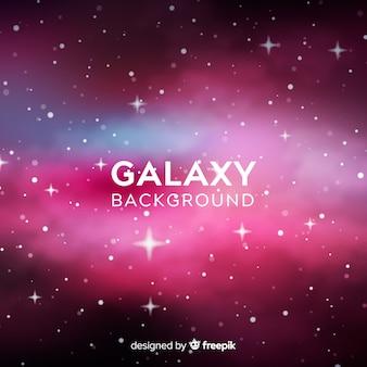 Fondo colorido de galaxia con diseño realista