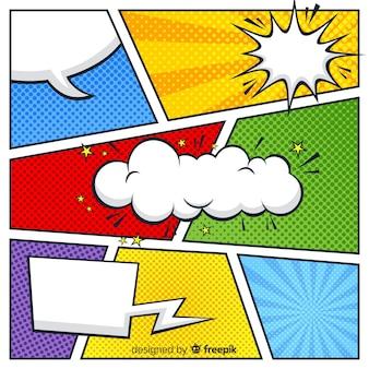 Fondo colorido de medios tonos comic