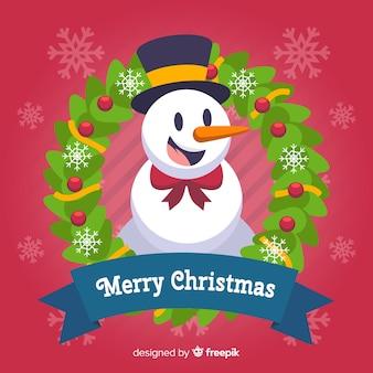 Fondo colorido de navidad con diseño plano