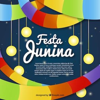 Fondo colorido decorado de fiesta junina