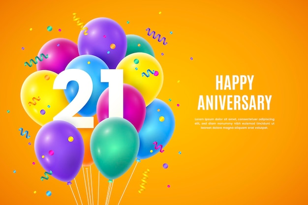 Fondo colorido degradado 21 aniversario