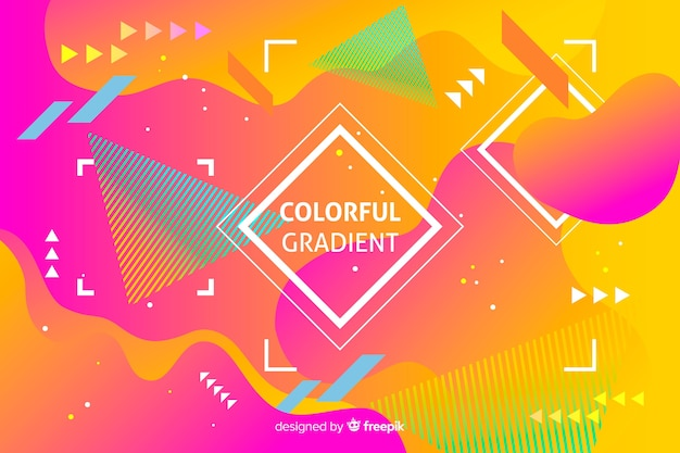 Fondo colorido degradado de formas geométricas