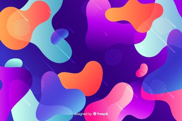 Fondo colorido degradado formas líquidas
