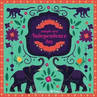 Fondo colorido del dia de independencia de la india