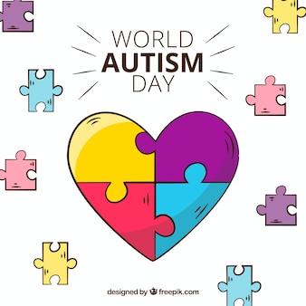 Fondo colorido del día mundial del autismo