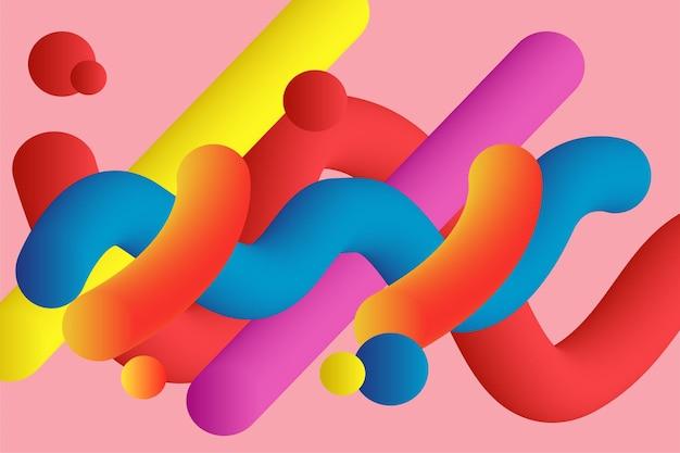 Fondo colorido de la diversión 3d de la mezcla abstracta