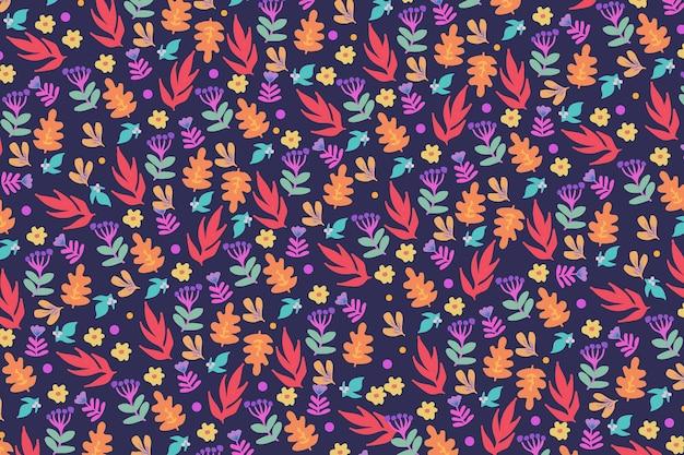 Fondo colorido del estampado de flores